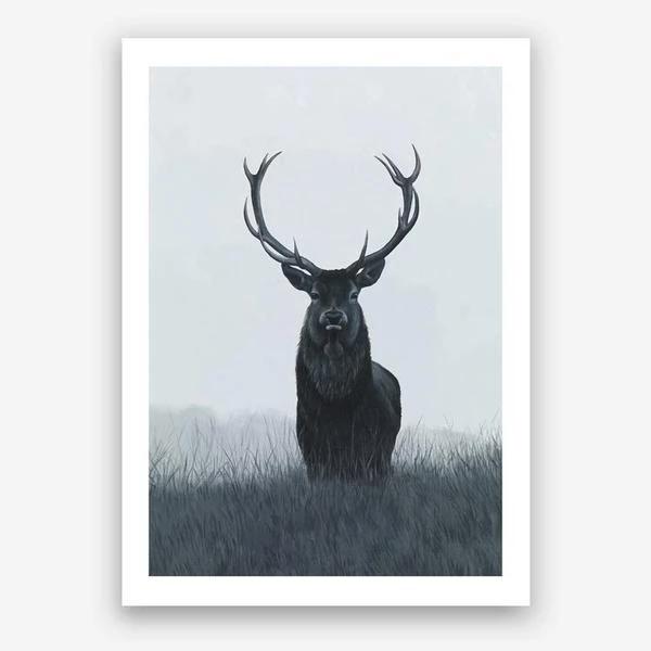 Elk Art Print Scandi Art Unframed Art Prints Art Prints