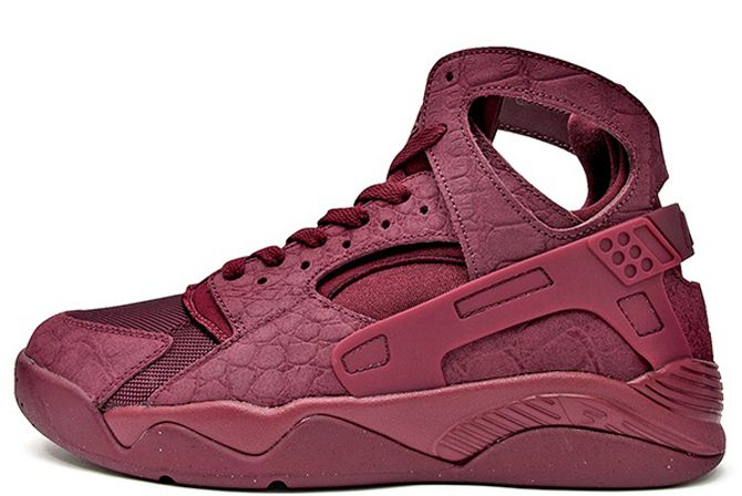 3c5276adadaf nike air flight huarache croc suede black red