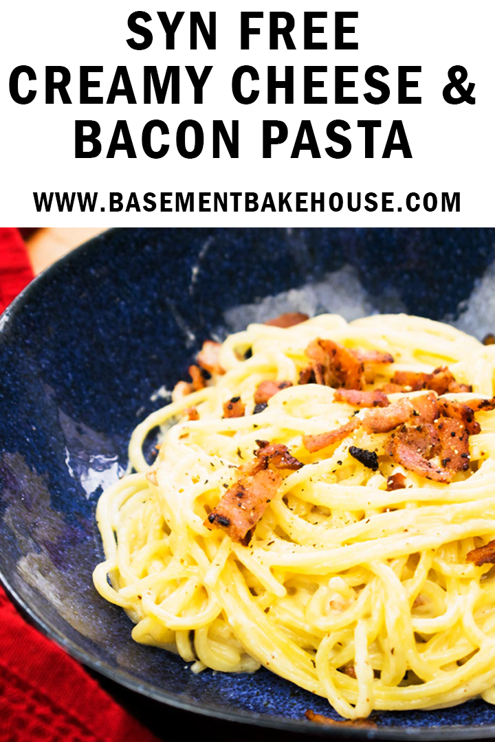 Photo of Syn Free Creamy Cheese und Bacon Pasta – Basement Bakehouse