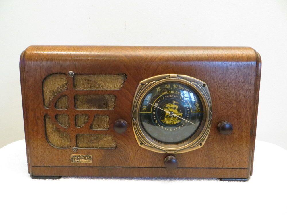 VINTAGE OLD 1930s ANTIQUE PACIFIC NAUTICAL SHIP DIAL DEPRESSION ERA OLD RADIO