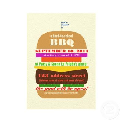 Cheeseburger Bbq Cookout Invitation Template  Graphics