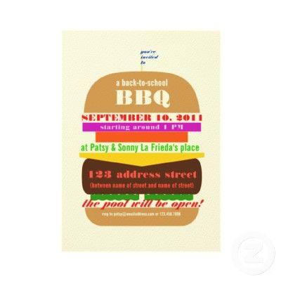 Cheeseburger bbq cookout invitation template invitation templates cheeseburger bbq cookout invitation template maxwellsz