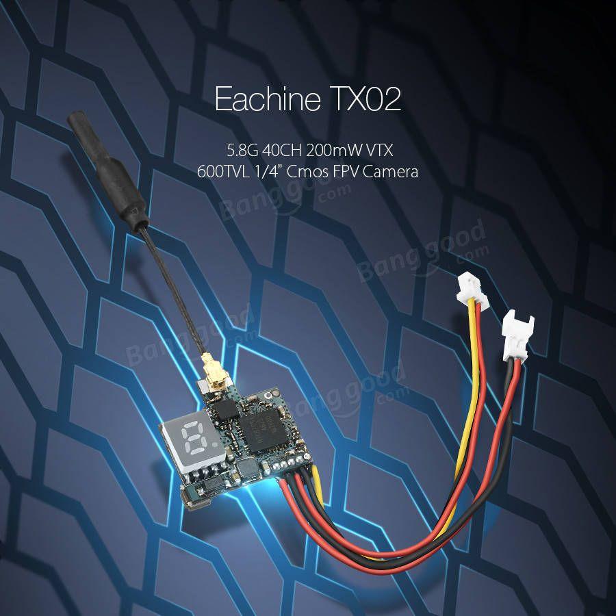 Eachine vtx02 FPV передатчик супер мини 5.8G 40ch передатчик 200mw ...