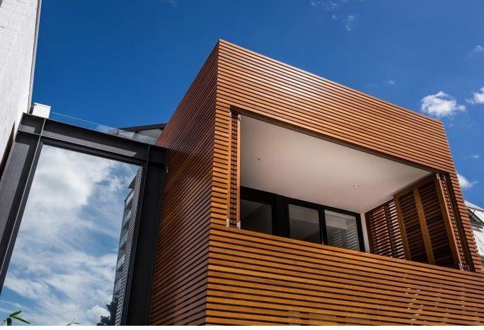 Fachada con texturas de madera Testure su legno Pinterest - fachada madera