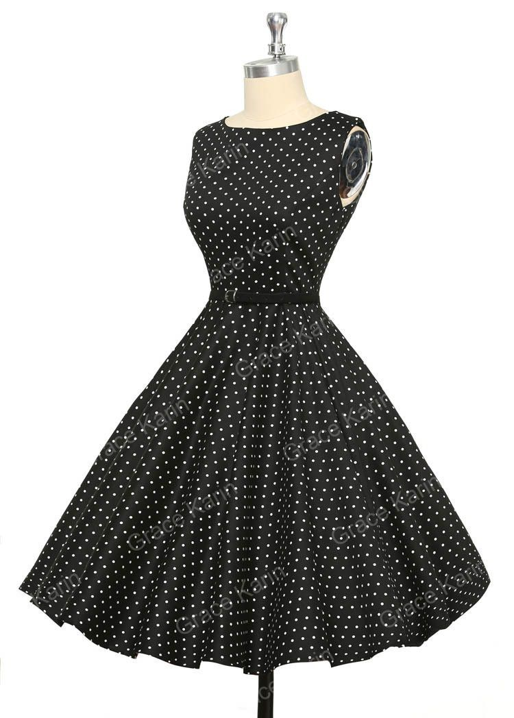 13 Colors GK Print Cotton Sleeveless Dot Women Summer Dress Retro 50s Vintage Dresses Plus Size CL6086 Alternative Measures