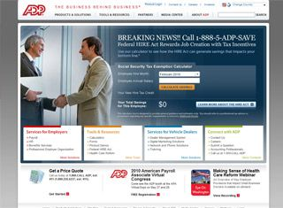 ADP is a very large company with a strong website presence. Good ...