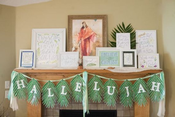 Palm Leaf And Hallelujah Letters In 12x18 Size Images For