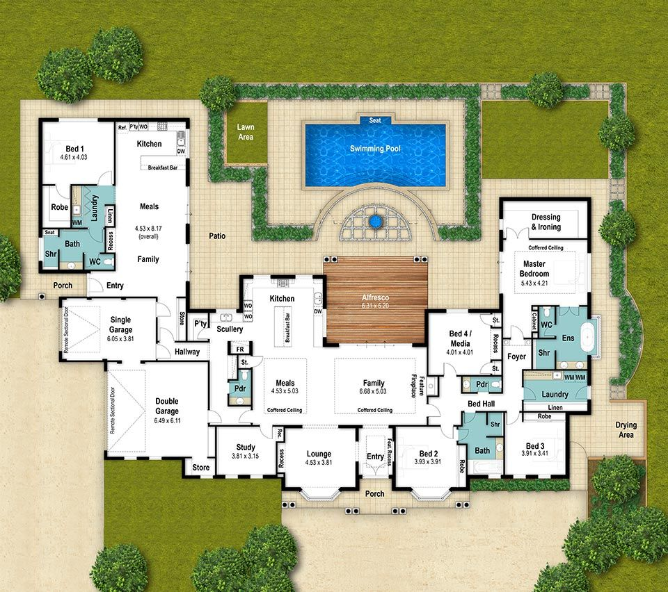 Designed For A Rural Block, This Floor Plan Is Rather