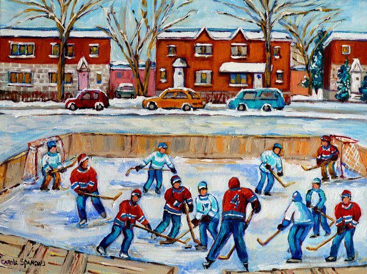 Oeuvre >> Carole Spandau >> VAN HORNE patinoire de hockey MONTRÉAL