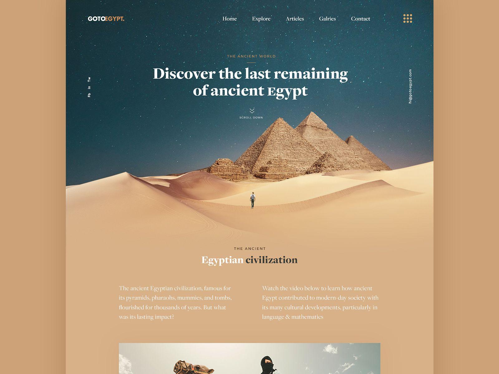 Gotoegypt Travel Landing Page Landing Page Dribbble Landing Page Design