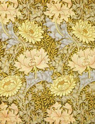 William Morris Chrysanthemum Wallpaper Tapetit In 2019