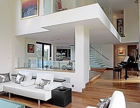 In the zone: The open-plan house has been divided with different floor  levels