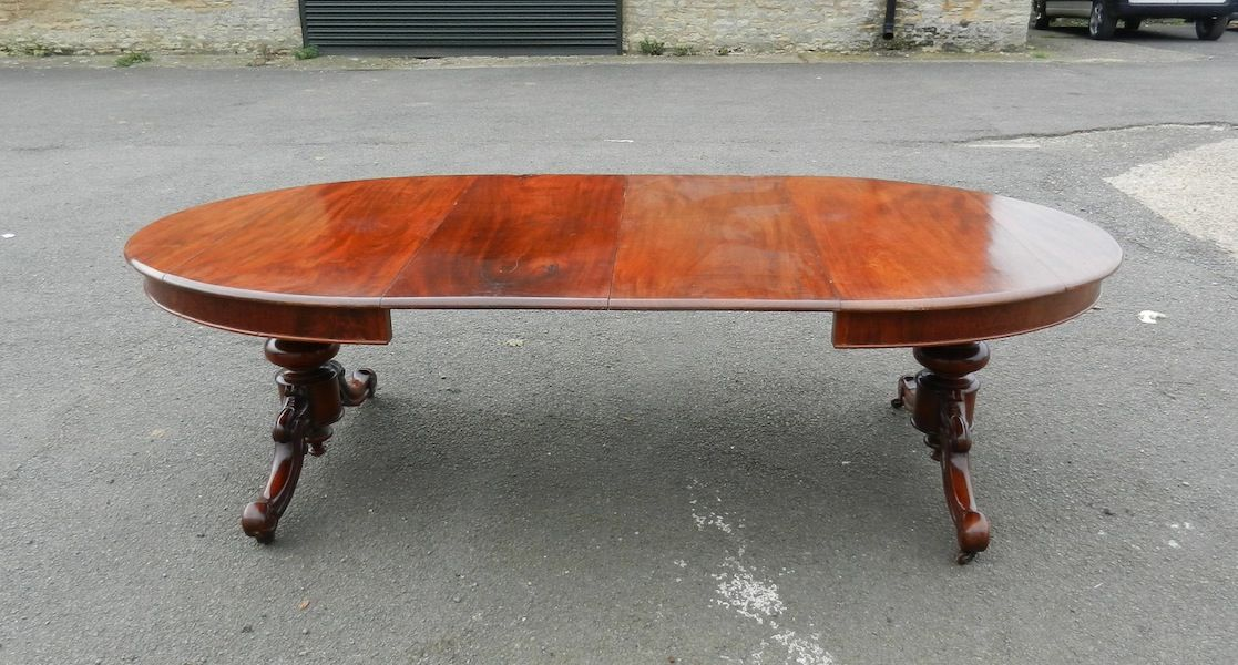 Antique Furniture Warehouse 8ft Oval Extending Victorian Table