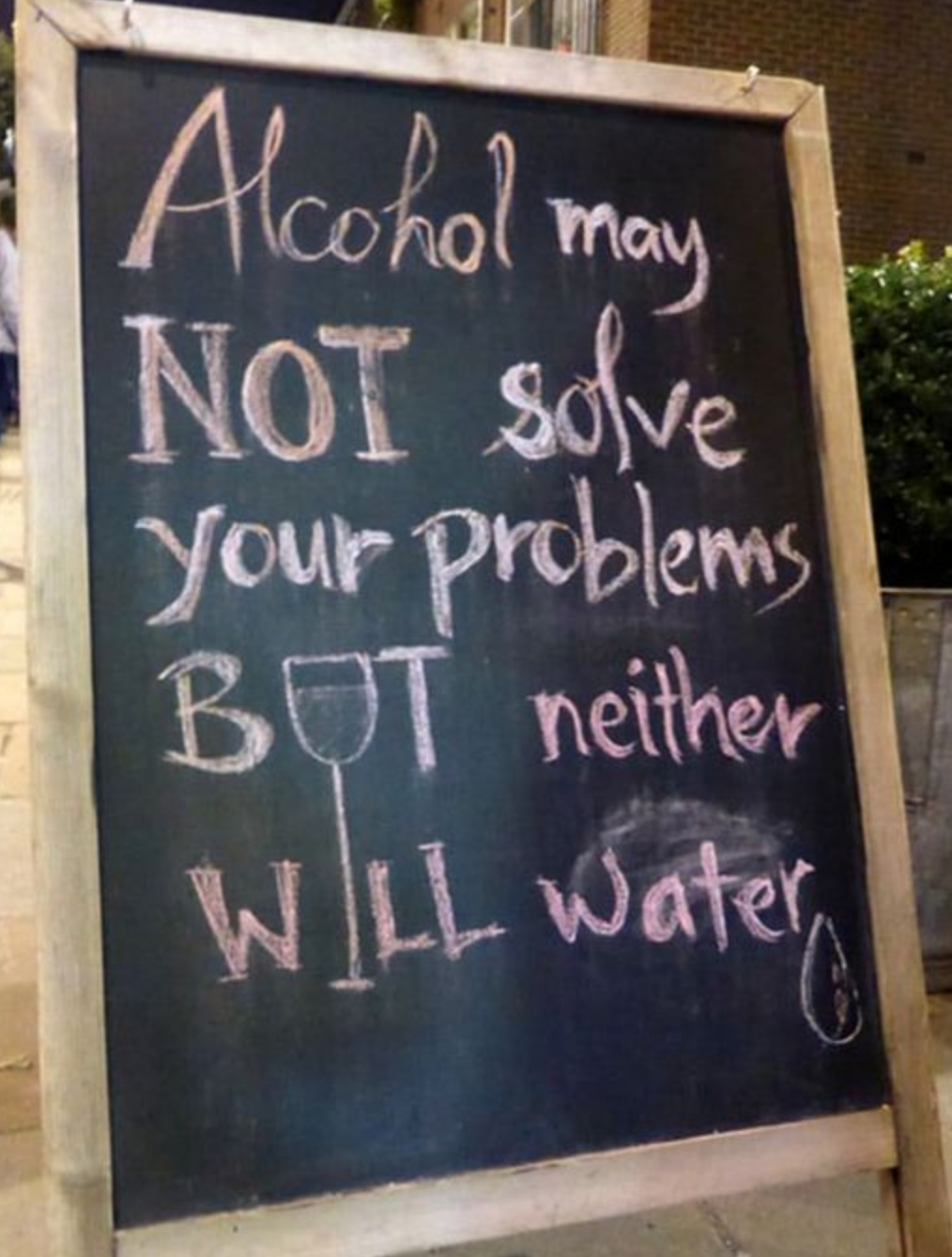 I Ve Told You A Hundred Times Water Will Not Solve Your Problems Come Drink A Beer With Friends Funny Bar Signs Alcohol Quotes Beer Quotes