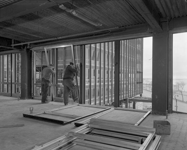 Construction Of 860 880 Lake Shore Drive Mies Van Der Rohe