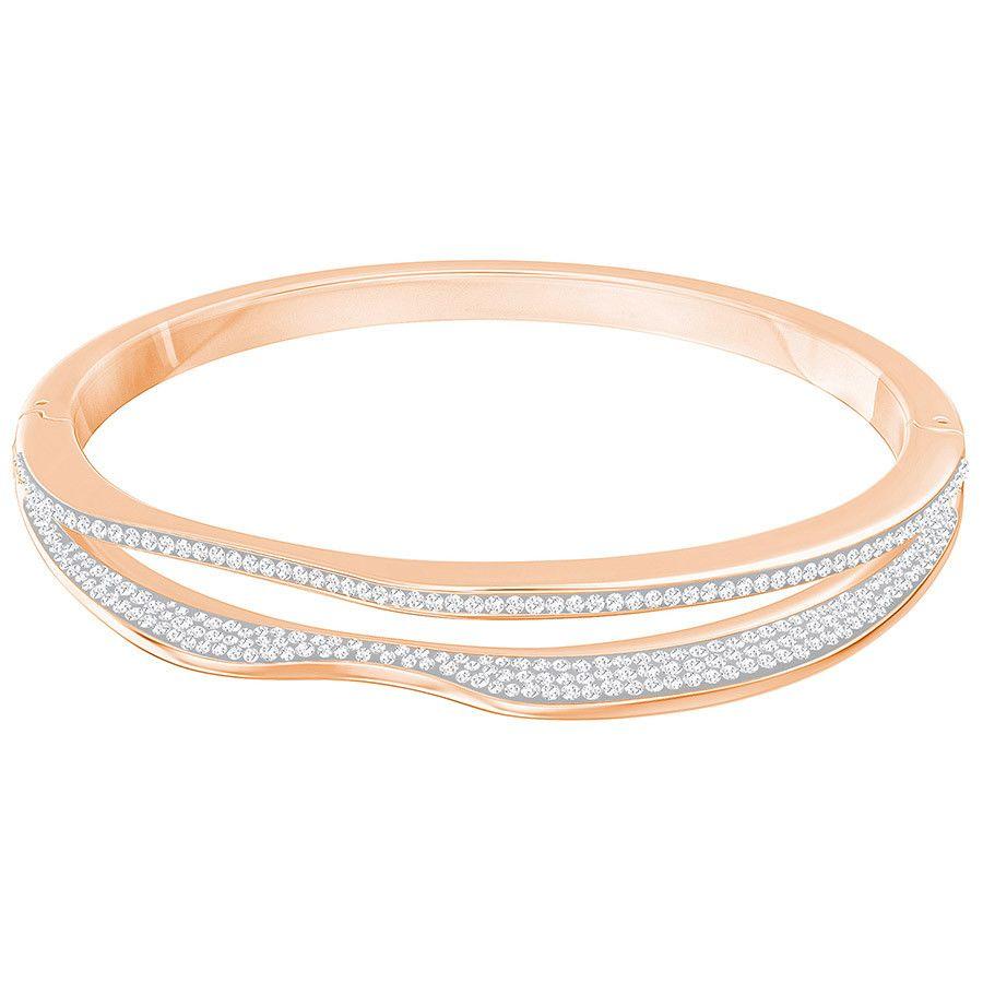 Bracelet jonc vague or blanc
