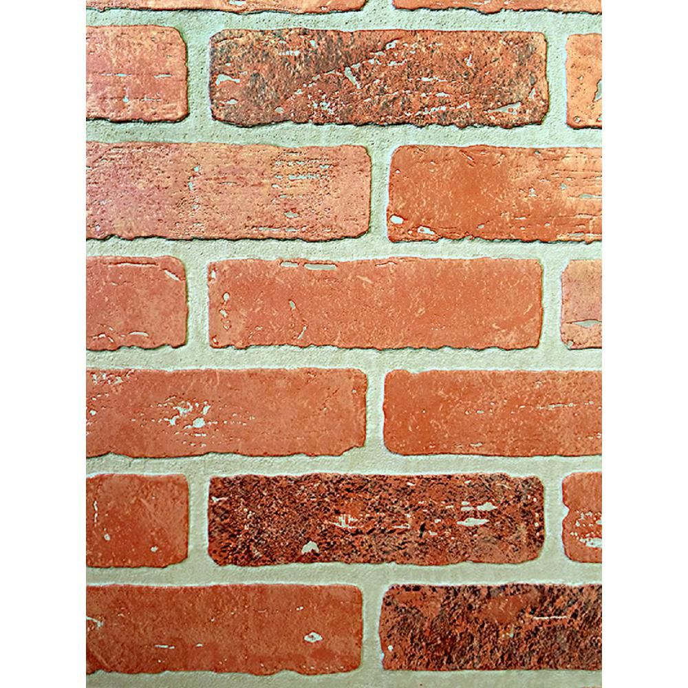 Null 1 4 In X 48 In X 96 In Kingston Brick Hardboard Wall Panel For Office Accent Wall And Whitewa Faux Brick Walls Diy Faux Brick Wall Brick Accent Walls