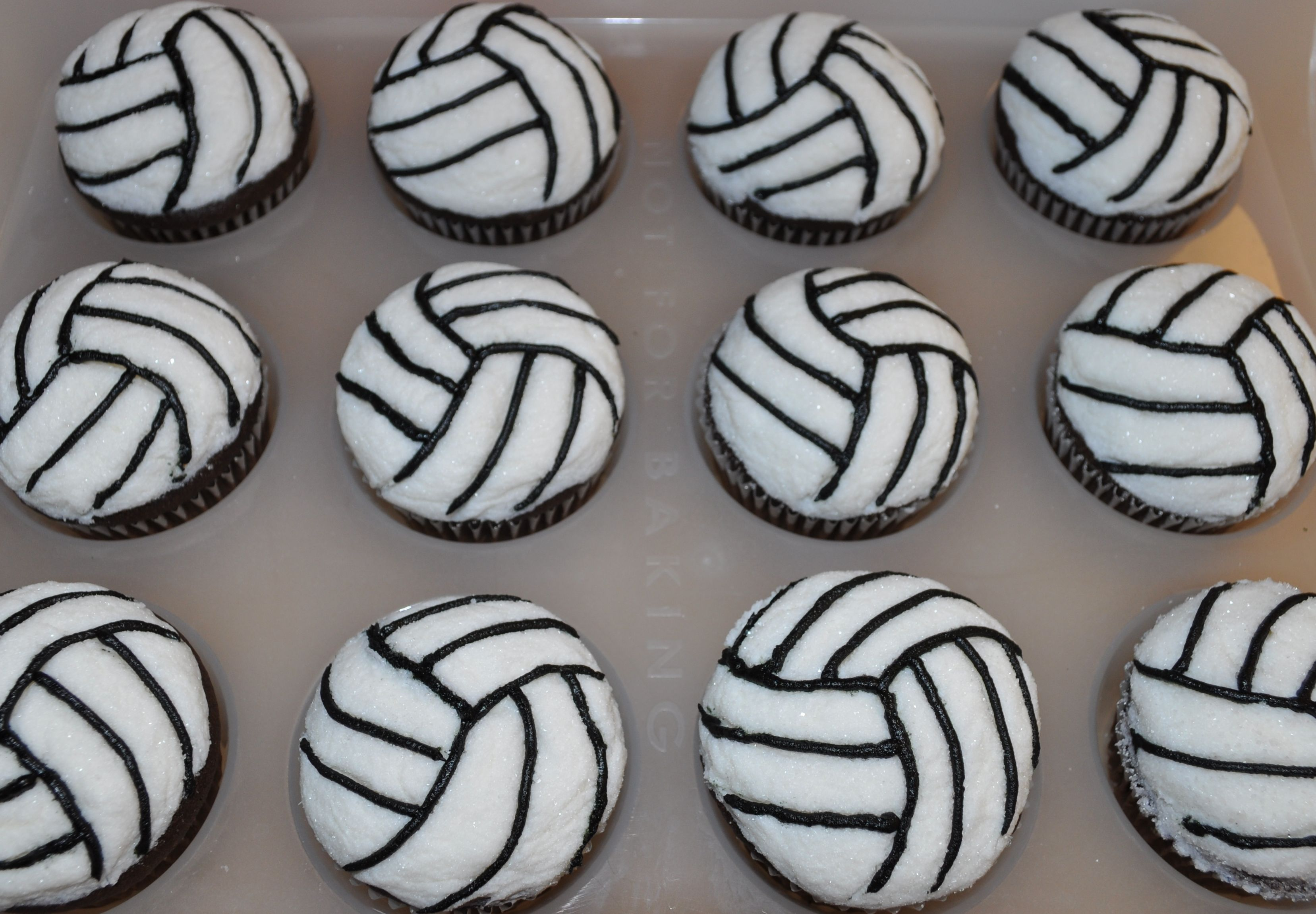 Volleyball Cupcakes Trena 39 S Treats Pinterest