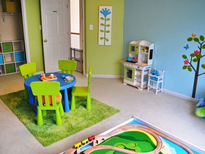 Fantastic Baby Playroom Designs Idea Theme Characters Children Design Ideas Green Rug