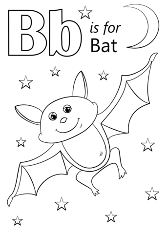 Letter B Is For Bat Coloring Page From Category Select 26401 Printable