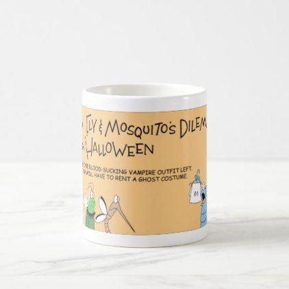 Flea Fly and Mosquito Halloween adventure Coffee Mug - home gifts - halloween decoration rentals