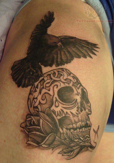 crow+Tattoos | Sugar Skull And Crow Tattoos | Tat2's ...