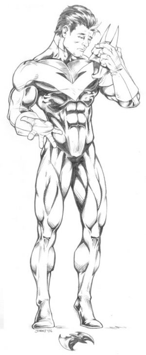 Nightwing DC Comics Superheroes Coloring Page | Superheroes Coloring ...