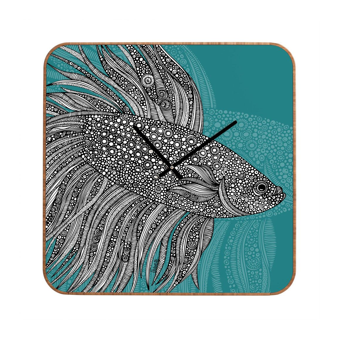 Dotty fish wall clock zentangle inspiration pinterest wall dotty fish wall clock amipublicfo Images