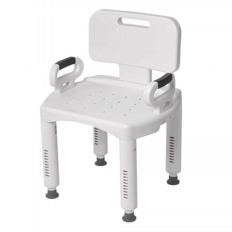 Bath Tub Seat Shower Chair Stool Adjustable Height Removable Legs Back Arms New Drivemedical Shower Chair Portable Shower Chair Shower Seat