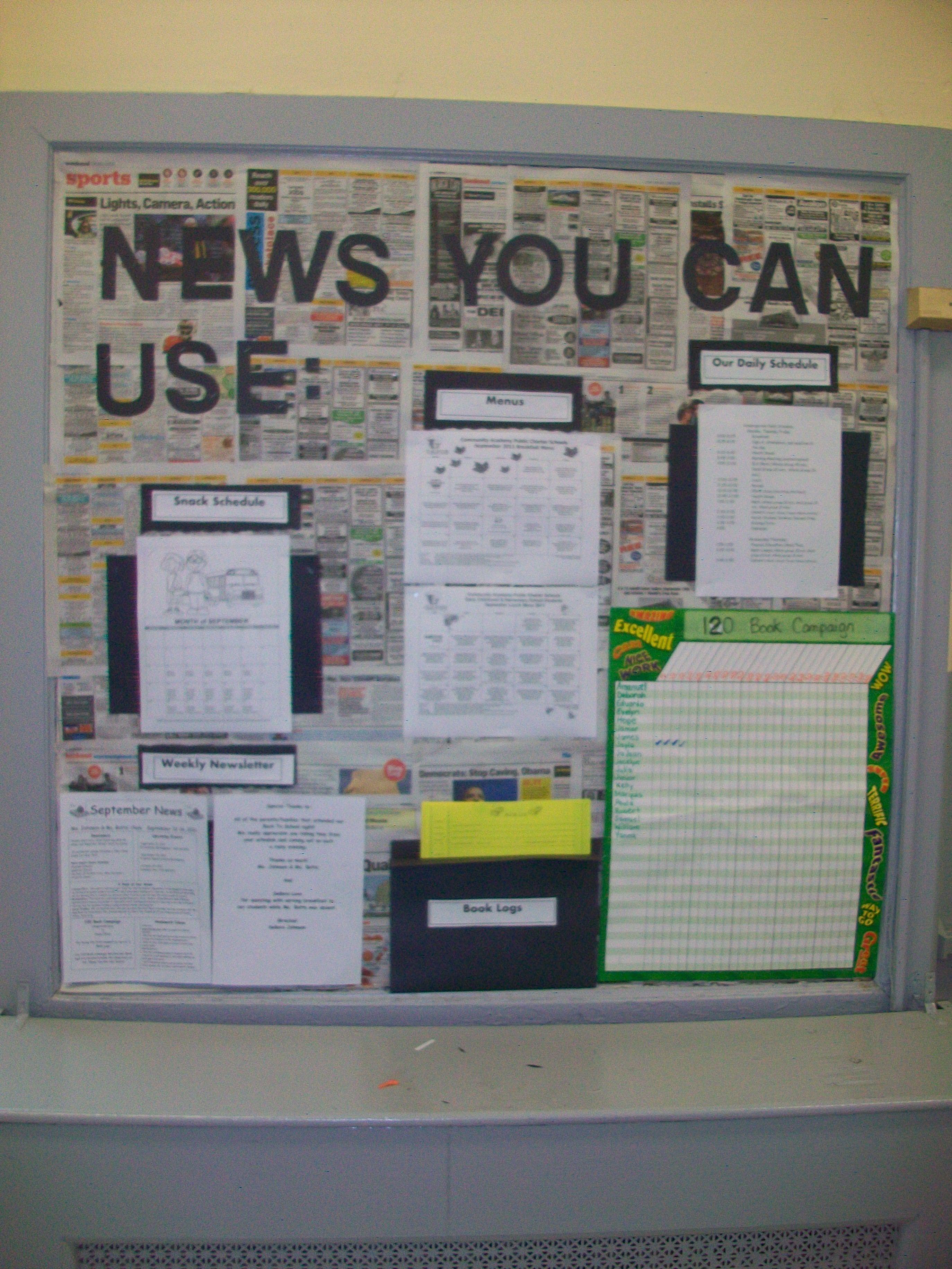 Parent Information Bulletin Board Ideas