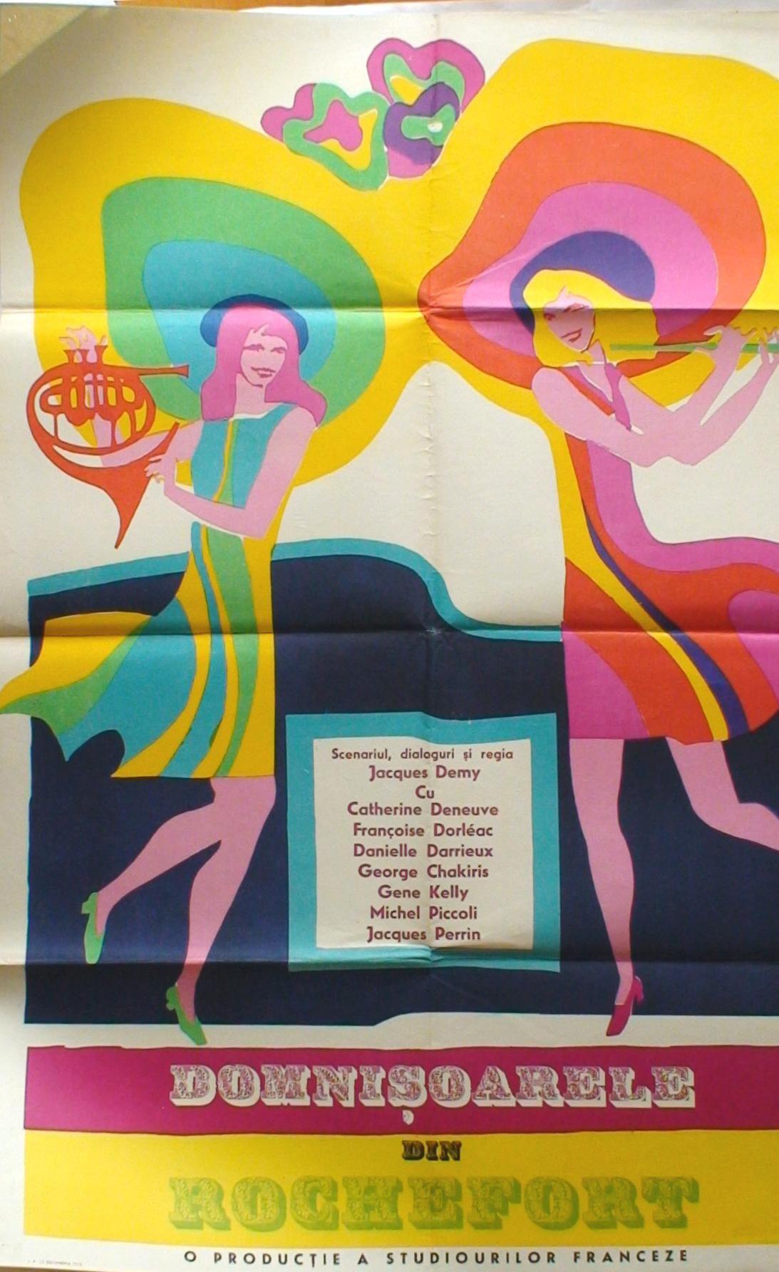 les demoiselles de rochefort poster romania 1967 jumelles rochefort pinterest. Black Bedroom Furniture Sets. Home Design Ideas