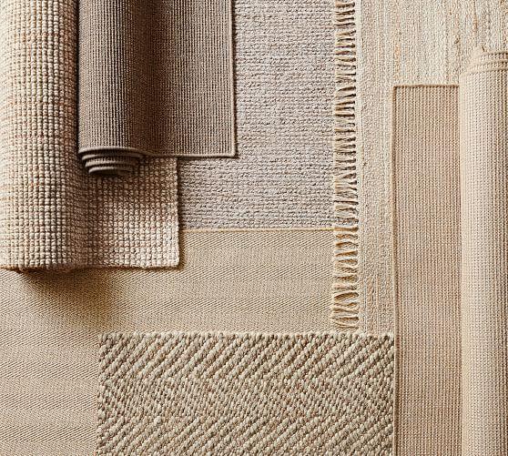 Chunky Wool Amp Jute Rug Natural