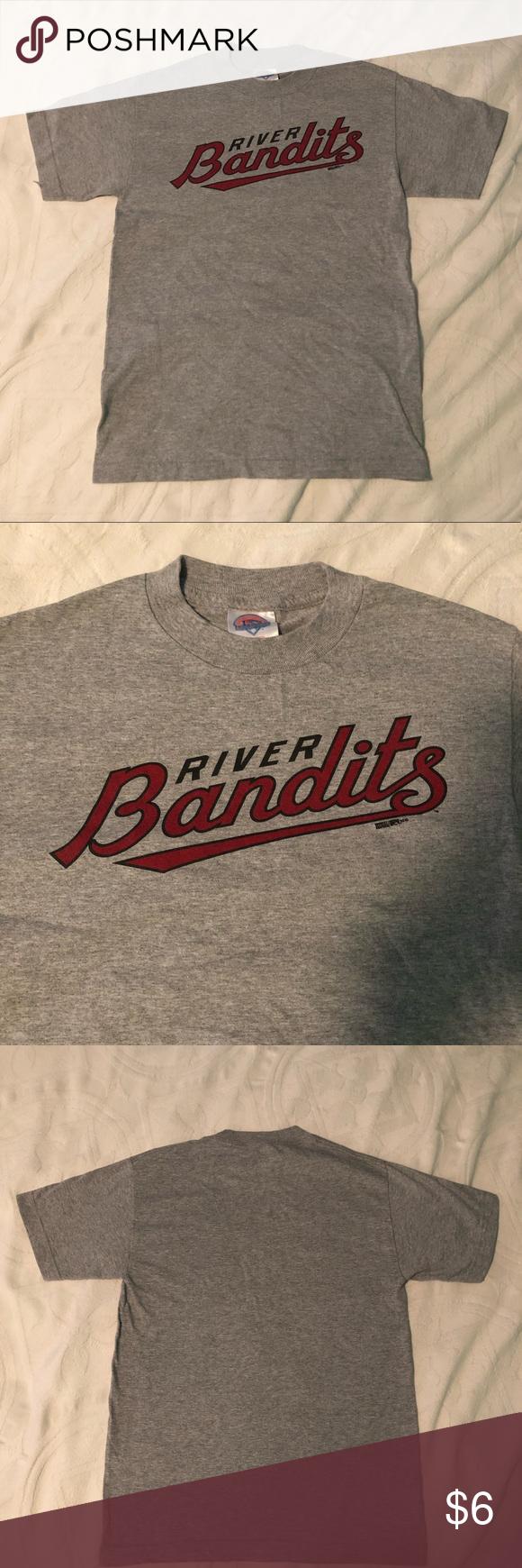 Quad City River Bandits T-Shirt Minor League baseball team