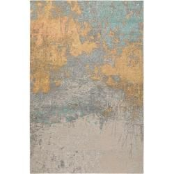 Photo of benuta Trends flat woven carpet Frencie beige / blue 200×285 cm – vintage carpet in used look