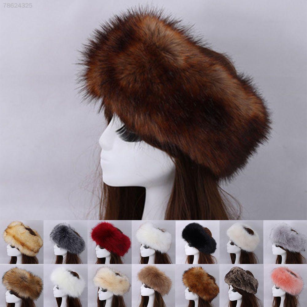 e15ad90bf 5594 Ladies Russian Thick Fluffy Fox FAUX Fur Headband Winter Ear ...