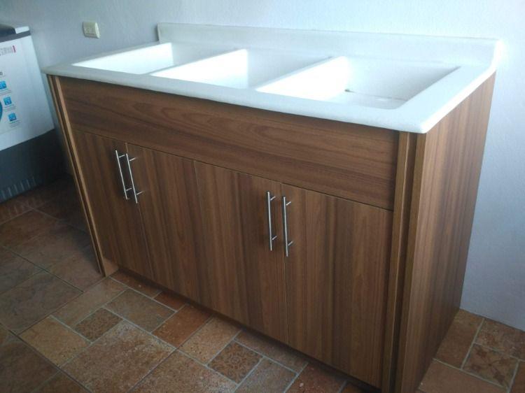 Mueble Para Pila De Lavar Ropa 1 40x 60 Con Pila En Granito Sintetico Fabricado Por Marmoltico Y Euromodulos Mc Bathroom Vanity Vanity Home Decor