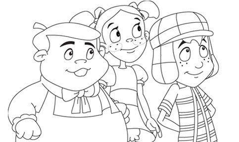 Dibujos Para Pintar Del Chavo Del 8 Animado Para Pintar