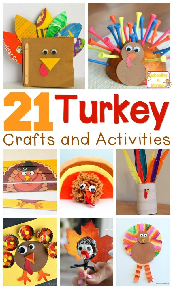 Thanksgiving Kid Craft Ideas Part - 37: 21 Adorable Turkey Craft Ideas And Activities For Kids