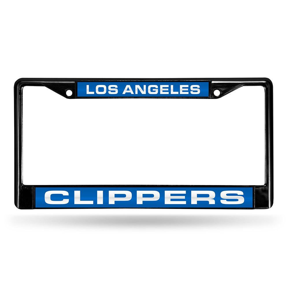 Los Angeles Clippers NBA Black Chrome Laser Cut License Plate Frame