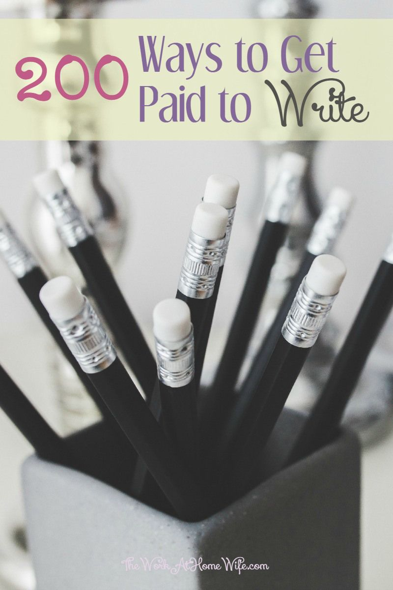 get paid for creative writing