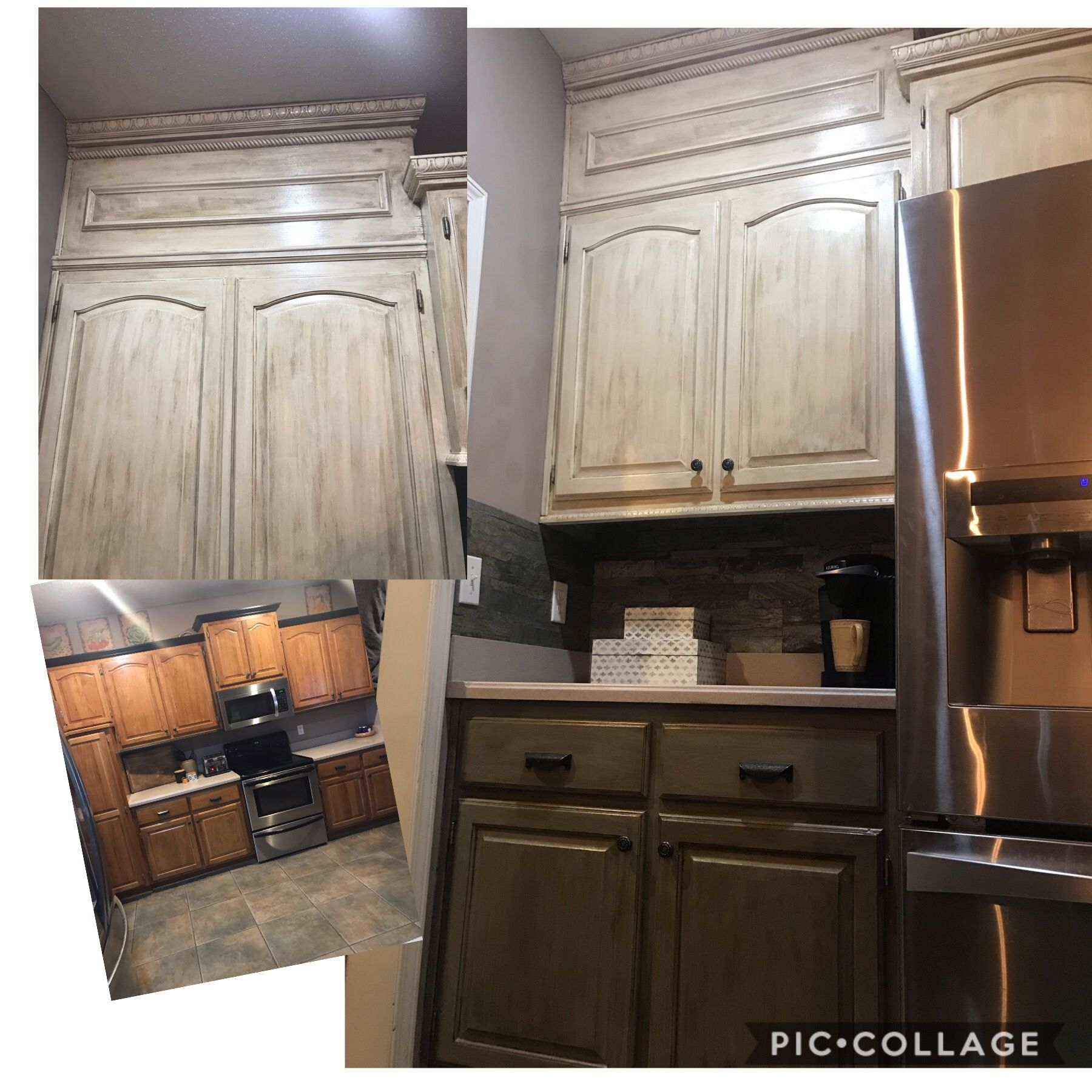 kitchen cabinets built to ceiling with added molding before and after kitchen cabinets on kitchen cabinets to the ceiling id=14398