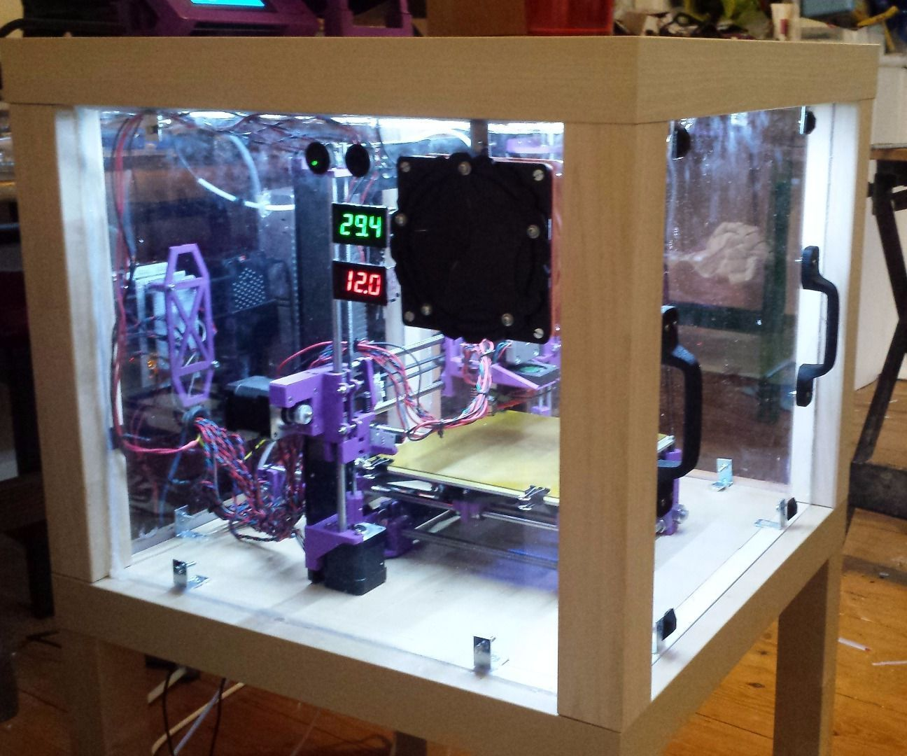 3d Printer Enclosure From Upcycled Furniture 3d printer