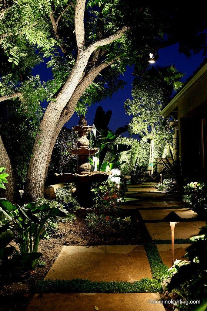 Gambino Landscape Lighting Uplighting And Cross Lighting Landscape Lighting Landscape Outdoor Lighting