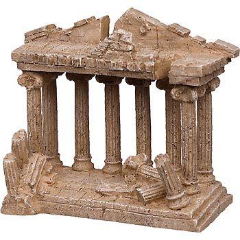 Petco medium greek temple aquarium ornament ruins for Petco fish tank decor