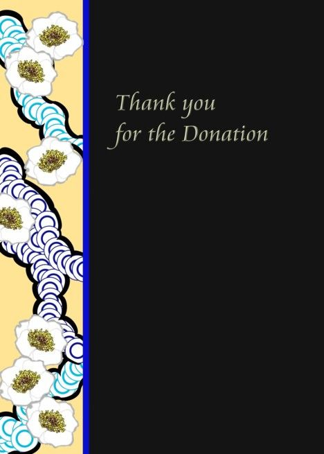 thank you for your donation in memory of patterned border