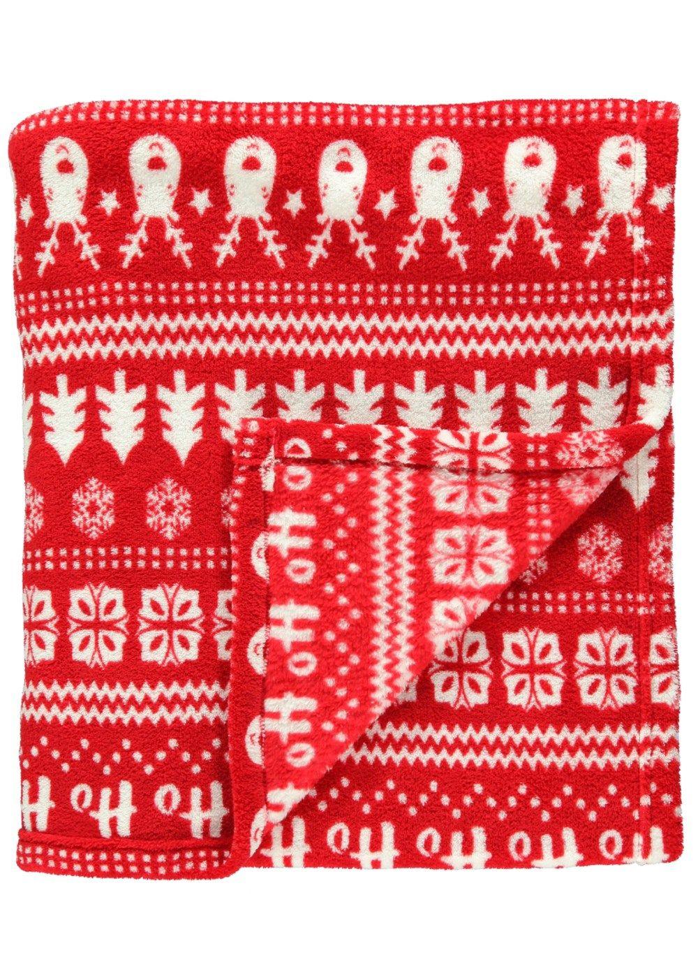 Christmas Fairisle Fleece Blanket - Matalan (With images ...