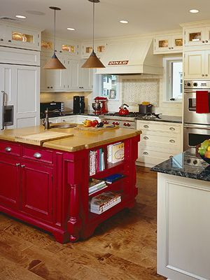 Home Resource Guide: Fairfield County Kitchen Designers, CT, Westchester,  NY Kitchen Designers.love The Pop Of Red/or Any Color In A White Kitchen.