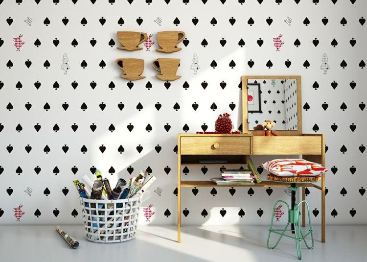 Süße Tapeten Ideen Wand Kinderzimmer Gestalten