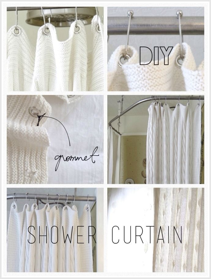 A #DIY Shower Curtain How To Created From An Ikea Throw Blanket On  Lynneknowlton