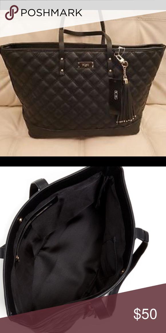 c099a35e81 NWT BCBG Paris Black Quilted Tote Bag ✨NEW WITH TAGS✨ BCBG Paris Black  Quilted